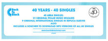 "Load image into Gallery viewer, ABBA ‎– THE SINGLES (40 YEARS - 40 SINGLES) 7"" BOX SET VINYL"