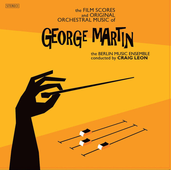 GEORGE MARTIN - THE FILM SCORES & ORIGINAL MUSIC PERFORMED BY BERLIN MUSIC ENSEMBLE (2LP) VINYL