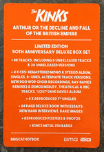 "Load image into Gallery viewer, KINKS - ARTHUR 50TH ANNIVERSARY DELUXE (4X7""/4CD/BOOK/PIN) BOX SET"