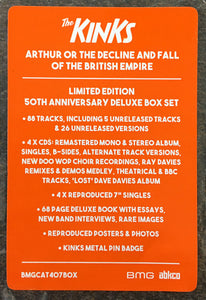 "KINKS - ARTHUR 50TH ANNIVERSARY DELUXE (4X7""/4CD/BOOK/PIN) BOX SET"