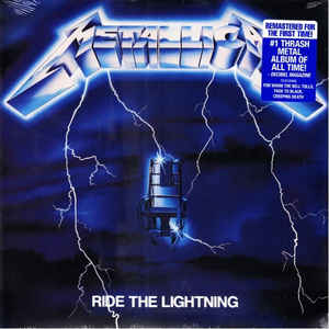 METALLICA - RIDE THE LIGHTNING VINYL