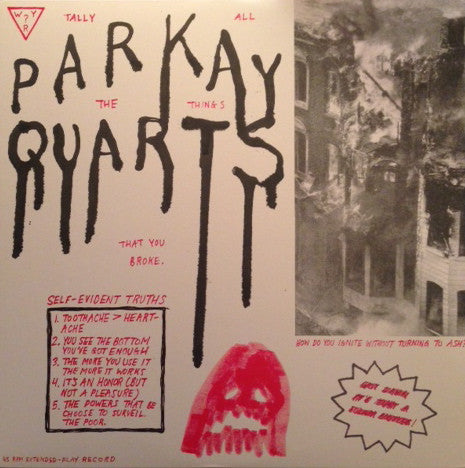 PARQUET COURTS - TALLY ALL THE THINGS VINYL