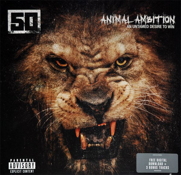 50 CENT - ANIMAL AMBITION: AN UNTAMED DESIRE TO WIN (2LP) VINYL