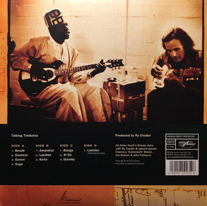 ALI FARKA TOURÉ WITH RY COODER - TALKING TIMBUKTU (2LP) VINYL