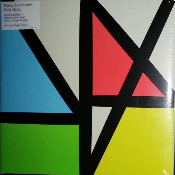 NEW ORDER ‎- MUSIC COMPLETE (CLEAR 2LP) VINYL