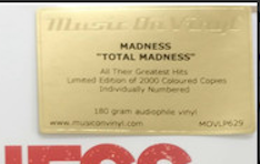 MADNESS - TOTAL MADNESS: ALL THE GREATEST HITS & MORE (RED COLOURED 2LP) VINYL