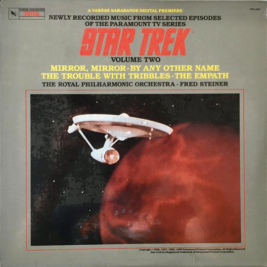 FRED STEINER & ROYAL PHILHARMONIC ORCHESTRA - STAR TREK - VOLUME TWO (USED VINYL 1986 US M-/M-)