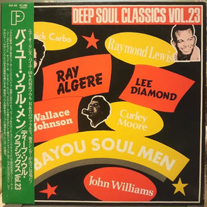 VARIOUS - BAYOU SOUL MEN (USED VINYL 1989 JAPAN M-/M-)