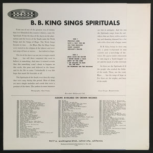 B.B. KING - SPIRITUALS (UNPLAYED) VINYL JAPAN