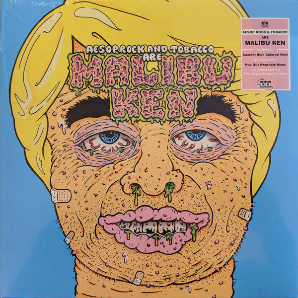 AESOP ROCK & TOBACCO ‎- MALIBU KEN (BLUE COLOURED) VINYL