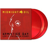 MIDNIGHT OIL - ARMISTICE DAY: LIVE AT THE DOMAIN (RED TRANSLUCENT COLOURED) VINYL
