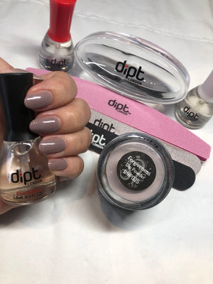 dipt forgiveness, purple grey dip nail powder