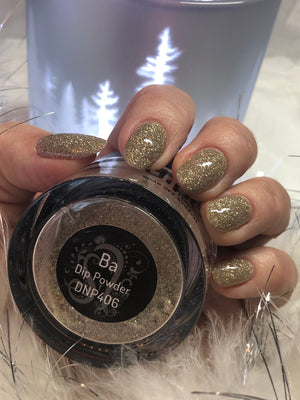 dipt ba, sparkly gold dip nail powder