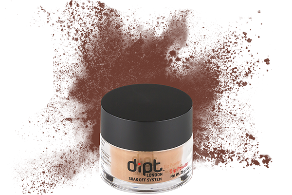 dipt milk chocolate brown nail powder, brown dip nail powder