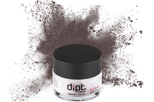 dipt deep purple grey nail powder, purple grey dip powder