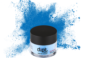 dipt bright blue nail powder, ocean blue dip powder