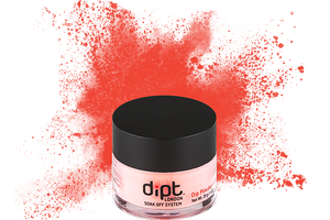 dipt bright orange nail powder, bright coral dip powder
