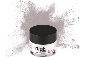 dipt mid grey dip powder, medium grey nail powder