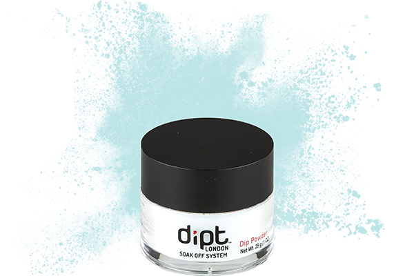 dipt sky blue dip powder, teal blue nail powder