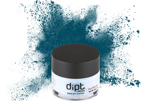 dipt air force blue dip powder, teal nail powder