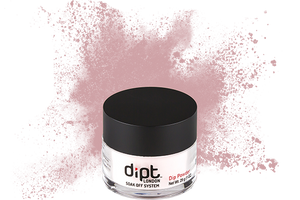 dipt light pink beige nail powder, pinkish beige dip powder