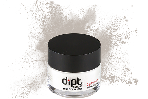 dipt light neutral grey dip powder, light grey nail powder