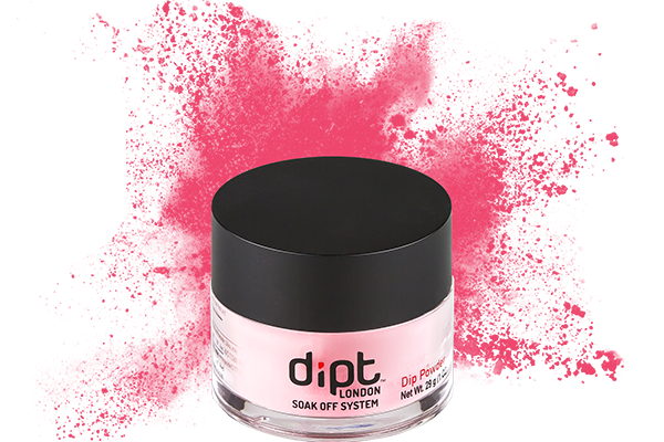 dipt bright coral pink nail powder, coral dip powder