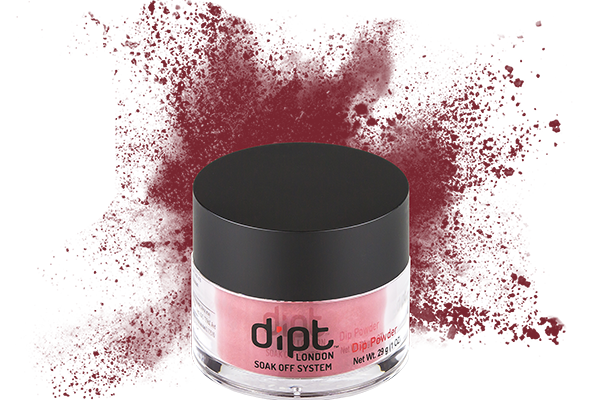 dipt ox blood red dip powder, deep red nail powder
