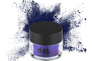 dipt deep ink blue nail powder, royal blue dip powder