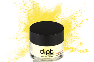dipt neon yellow nail powder, bright neon yellow dip powder