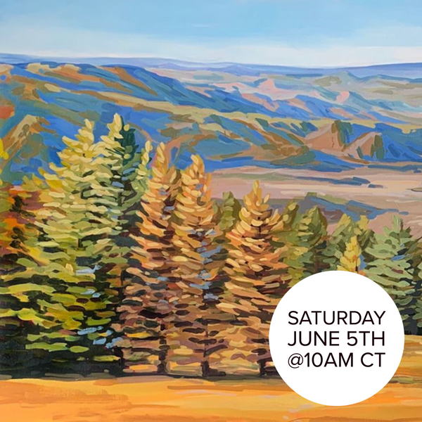 Acrylic Landscapes - Painting Trees with Danika Ostrowski