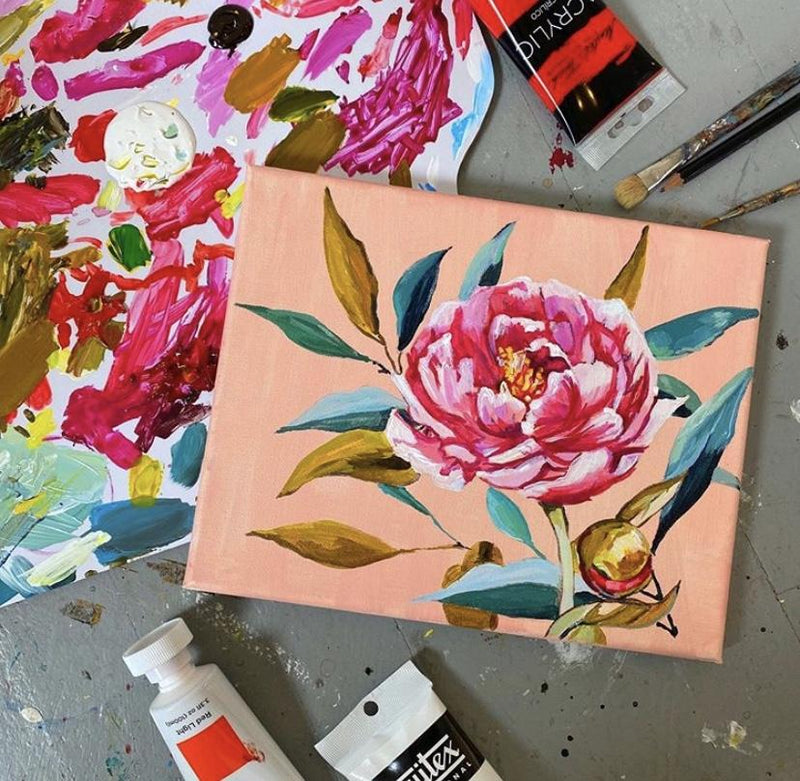 Acrylic Florals with Morgan Greer