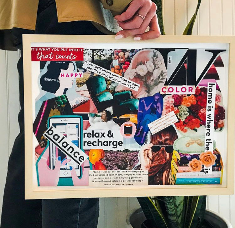 Collage New Year Vision Board with Whitney Avra