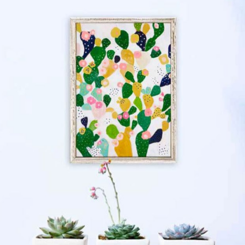 Acrylic Painting and Collage - Cacti Series with Anna Swanson