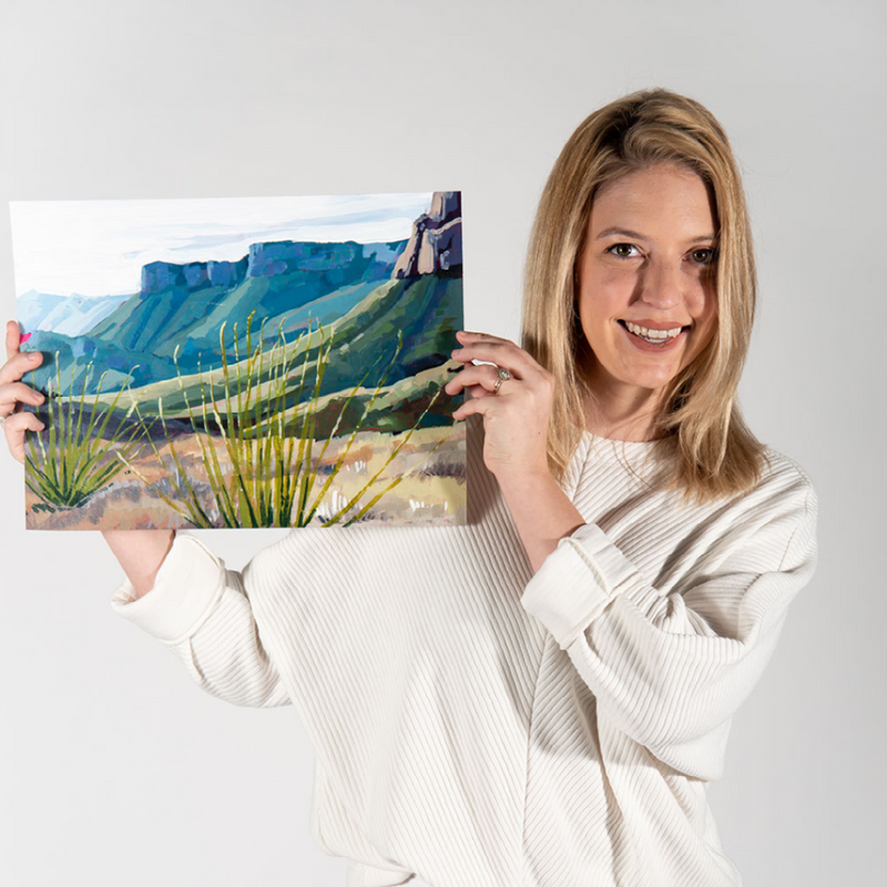 Acrylic Landscapes: Painting Rock Formations with Danika Ostrowski