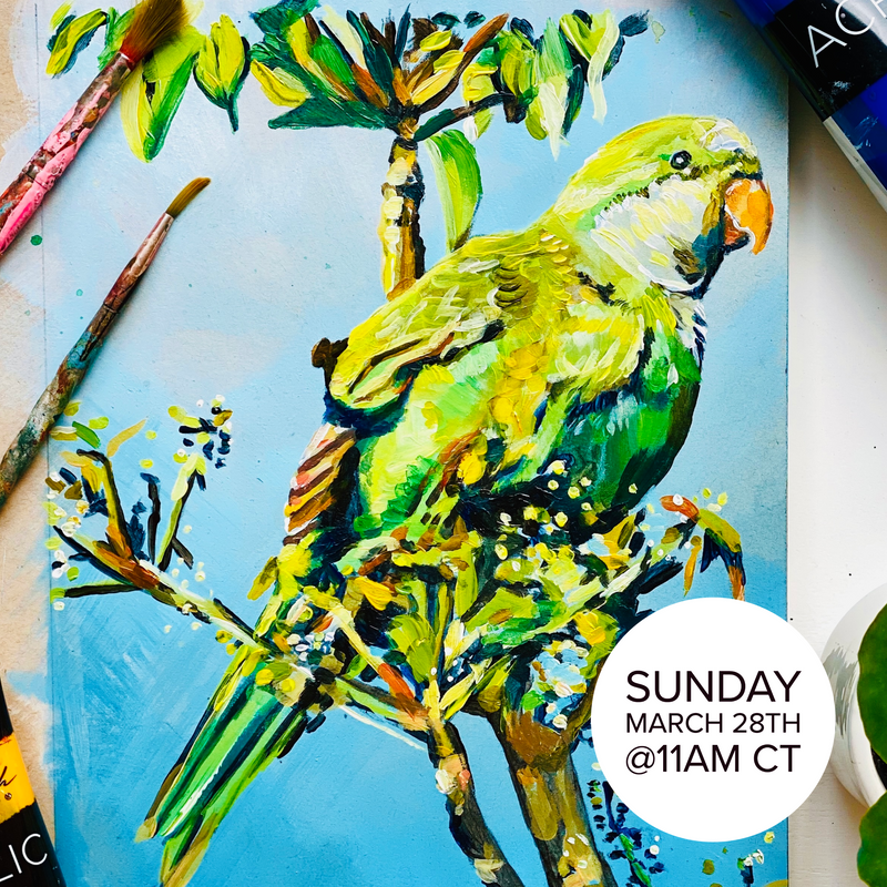 Acrylic Birds with Morgan Greer