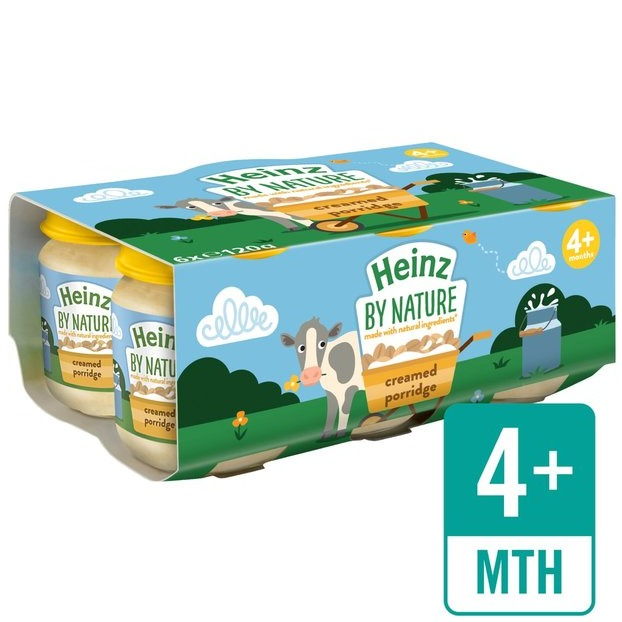 Heinz By Nature Creamed Porridge (pack of 6)