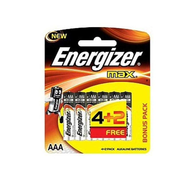 Energizer AAA Batteries (4 in a pack plus 2 free)