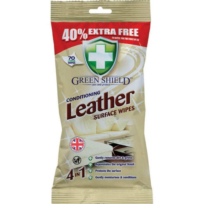 Green Shield Leather Surface Wipes