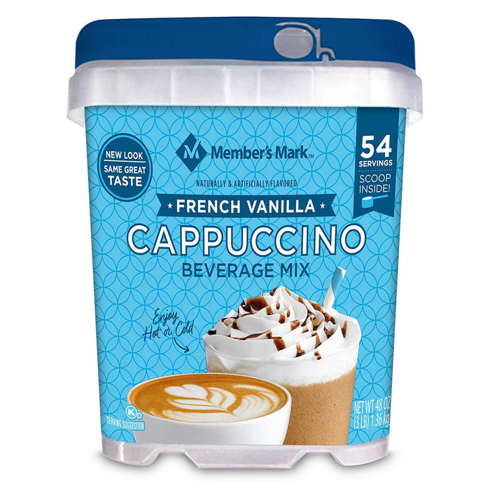 Member's Mark French Vanilla Cappuccino Beverage Mix 1.36Kg