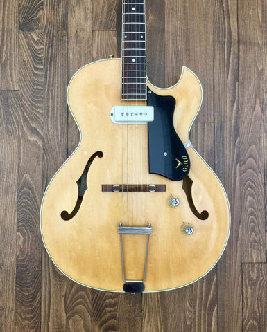 1960 Guild T-100 Slim Jim Blonde - Vintage Guitar Gallery of Long Island | Vintage Guitar Shop