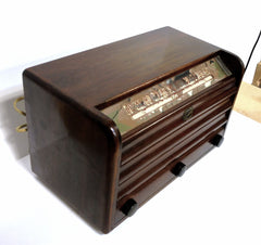 Vintage 1940's MCA Minerva Wooden Table Top Tube Radio Model 725 - Vintage Guitar Gallery of Long Island | Vintage Guitar Shop