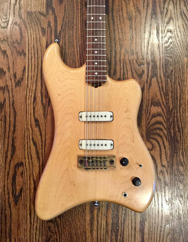 1981 Veillette Citron Shark Baritone Guitar - Vintage Guitar Gallery of Long Island | Vintage Guitar Shop