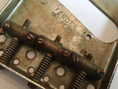 Original 1954 Fender Telecaster Bridge & Brass Saddles - Vintage Guitar Gallery of Long Island | Vintage Guitar Shop