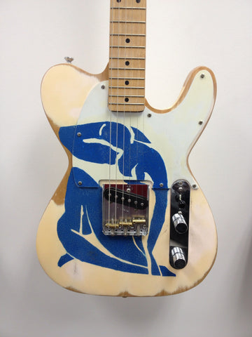 Fender Esquire Custom Modern Artist Series Henri Matisse Blue Nude - Vintage Guitar Gallery of Long island  - 1