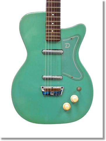 "Canvas Print of 1956 Danelectro U2 Aqua 18"" X 24"" - Vintage Guitar Gallery of Long Island 