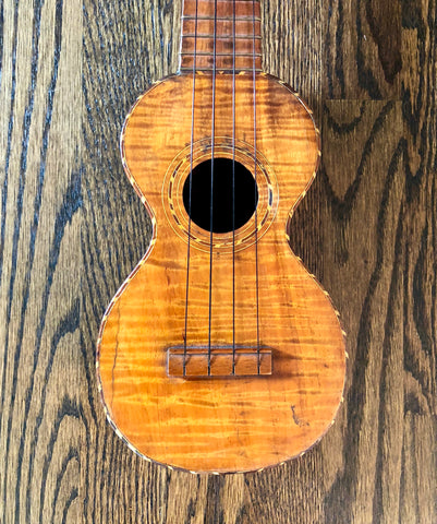 1920's Kumalae Ukulele Extreme Flame Koa - Vintage Guitar Gallery of Long Island | Vintage Guitar Shop