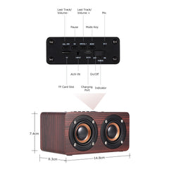 W5 Red Wood Grain Speaker Bluetooth 4.2  Dark - Vintage Guitar Gallery of Long Island | Vintage Guitar Shop