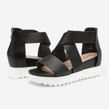 Load image into Gallery viewer, DREAM PAIRS Women's Platform Wedge Sandals Open Toe Ankle Strap Summer Shoes