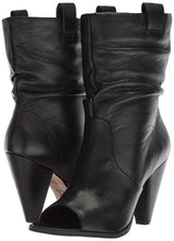 Load image into Gallery viewer, LFL by Lust for Life Cleo Slouchy Shaft Open Toe Pull On Covered Heeled Boots